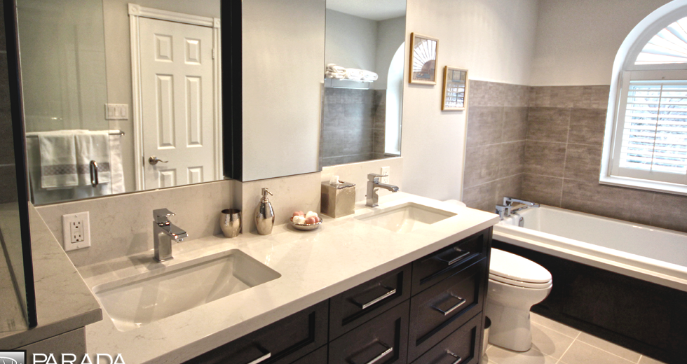 30 innovative bathroom vanities toronto for Bathroom cabinets yelp